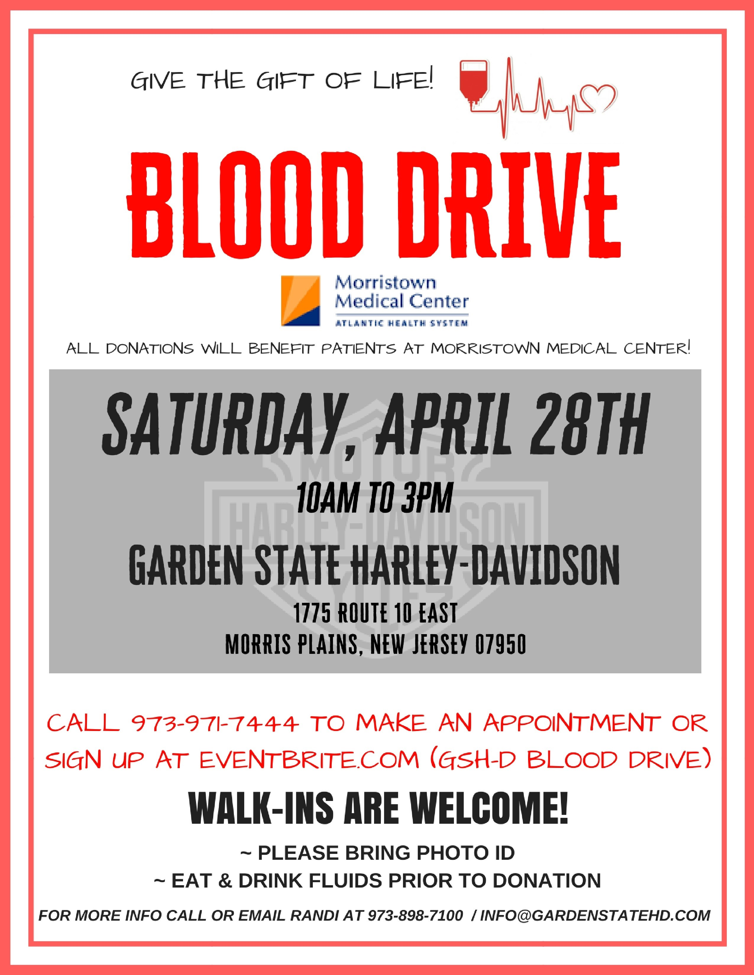 Blood Drive At Garden State H D Garden State Hog Chapter